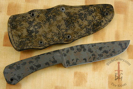 Field Knife with Micarta and Jungle Camo KG Finish