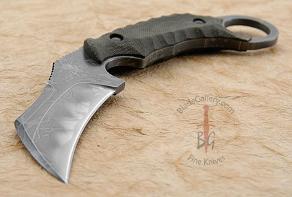 Talon Karambit with Green Micarta