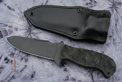 Utility Knife with Sculpted Rubber and Caswell Finish
