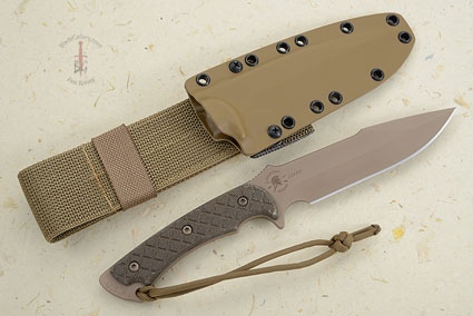 Horkos with Green Handle/Flat Dark Earth Blade
