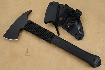 Breaching Axe with Black Micarta, Cord Wrap and KG Finish
