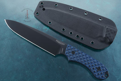 Guardian6 - Black/Blue G10, DLC Blade, Sabre Grind.