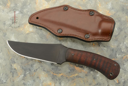 Belt Knife with Maple and Caswell Finish