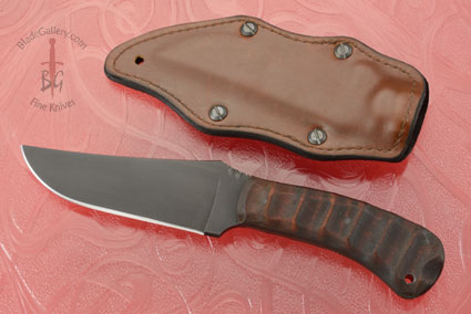 Belt Knife with Sculpted Maple and Caswell Finish