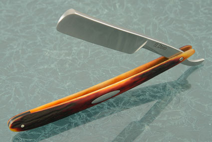 Straight Razor with Stag (11/16