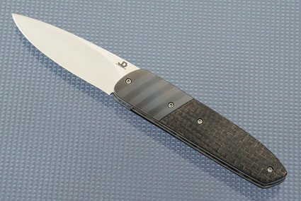 Little Bit Front Flipper with Lightning Strike Carbon Fiber and Zirconium (IKBS)