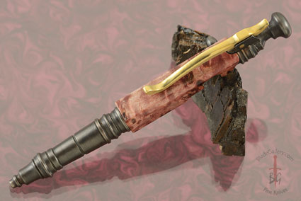 Bolt Action Pen with Maple Burl