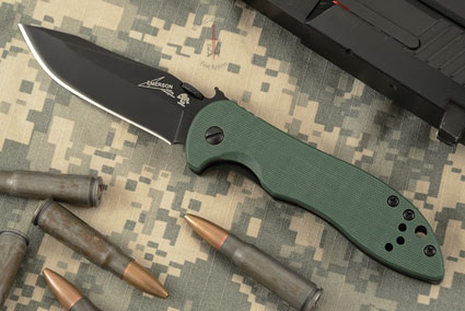 CQC-5K with Olive Drab G10 (6074OLBLK)