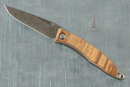 Mnandi with Spalted Beech and Basketweave Damascus