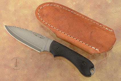 Guardian 3 - 3D Black Micarta, SG2 San Mai Damascus, Full Height Flat Grind