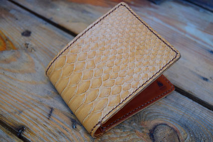 Bifold Wallet with Oryx Snakeskin
